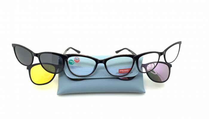 Rama ochelari clip-on Solano CL900125 SET