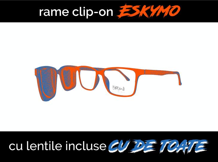 Ochelari clip-on cu lentile incluse