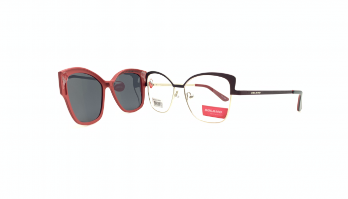 Rama ochelari clip-on Solano CL50028C