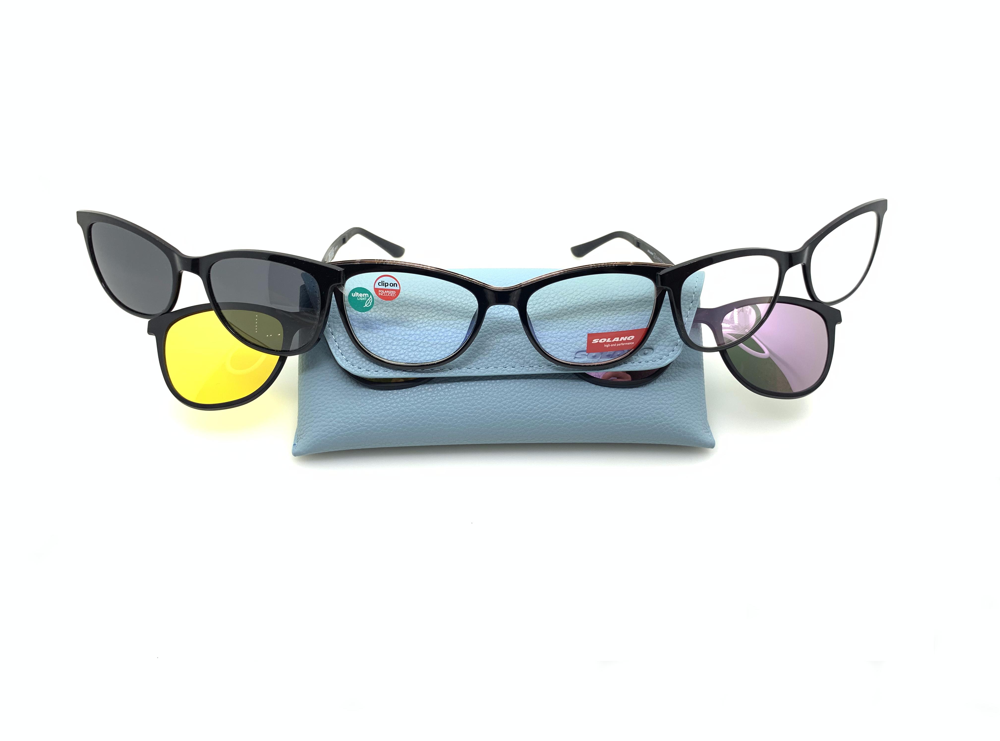 rame ochelari clip-on cu parasolare multiple